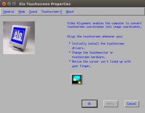 Alineación de vídeo de pantalla táctil de Elo